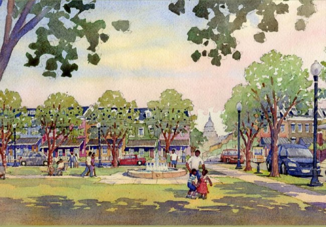 Rendering of Barry Farm
