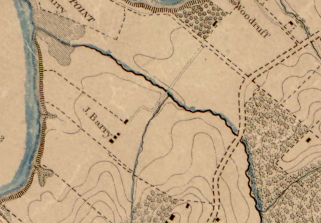 historic map of Barry Farm
