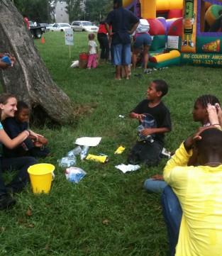 kids playing at Lincoln Heights community day