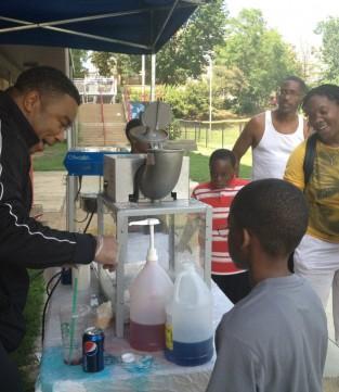 community fair in park morton